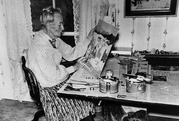Grandma Moses started painting at 76 years of age.