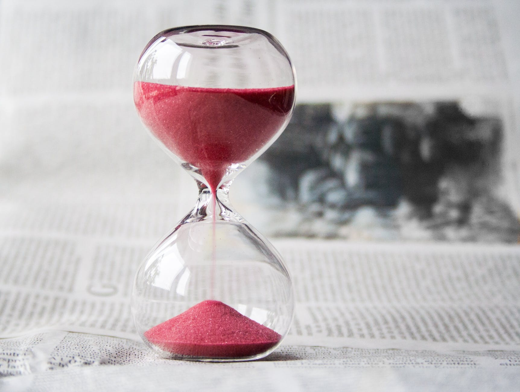 Hour Glass shows the passing of time. We are mortals.